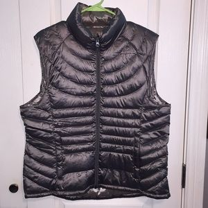 Silver Puffy Winter Vest